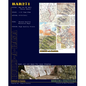 Build-A-Rama 1/32 Map Set #1 WWII - BAR271