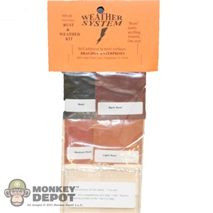 Bragdon 1/2oz. Small 4 Color Weathering Set (Lt Rust, Med Rust, Dk Rust & Soot Blk) (BRE-60)