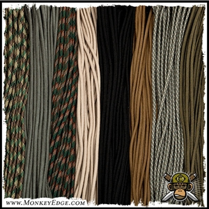 Paracord: Type III 550 Parachute Cord (Various Colors + Lengths)