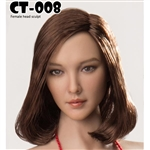 Head: Cat Toys Female Head w/Short Brown Hair (CAT-008B)