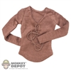 Shirt: Cat Toys Female Brown Long Sleeve Shirt