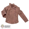 Coat: Cat Toys Female Brown Weathered Jacket