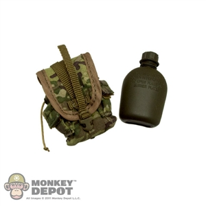 Pouch: Crazy Dummy Canteen w/Molle 2 Pouch - Multicam