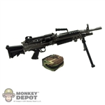Rifle: Crazy Dummy M249 Para w/ AR Stock & 100 Round M249 Ammo Box