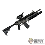 Rifle: Crazy Dummy M4 Carbine w/ M203 Grenade Launcher, Comp M4 Scope and 3 Point Sling