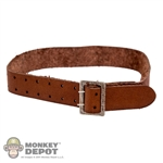 Belt: Crazy Dummy Brown Leather Belt