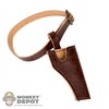 Belt: Coo Models Leather Brown Belt w/Holster