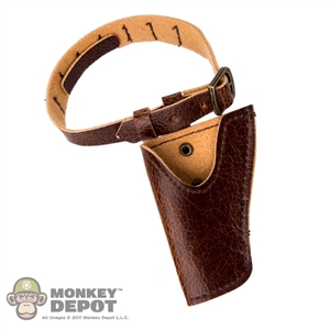 Belt: Coo Models Leather Brown Belt w/Shotgun Holster