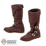 Boots: Coo Models Medieval Suede Buckle Boots