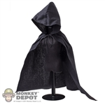Cloak: Coo Models Black Hooded Cape