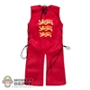 Robe: Coo Models Sleeveless Red Robe w/Three Lions Symbol