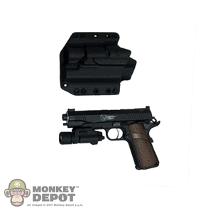 "Pistol: CalTek Nighthawk Custom ""Costa Recon"" .45 ACP 1911 w/ Phantom Light Holster and M300A Mini Scout Light"