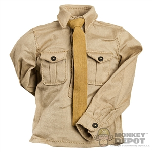 Shirt: Cal Tek French WWII Tan W/ Tie