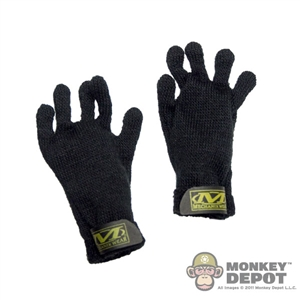 Gloves: CalTek Mechanix Work Gloves - Black