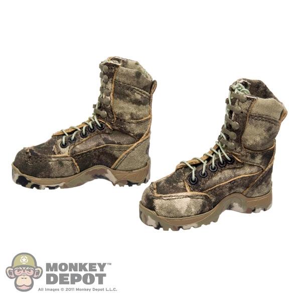 Monkey Depot - Boots: CalTek A-TACS Camo Boots