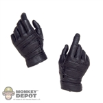 Hands: CalTek Black Molded Tactical Gloves