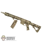 Rifle: CalTek Larue Tactical Custom OBR Hybrid AR15 In A-Tacs Camo