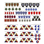 Insignia CVI U.S. Army Divisions NW Europe - The Normandy Divisions