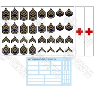 Insignia CVI US Army G.I. Rank Set Winter Chevrons