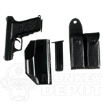 Pistol Dragon H&K P7 with holster and 2 mag pouch