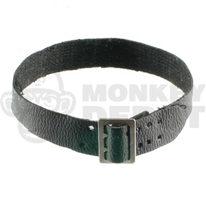 Belt Dragon Black Leatherlike Open Buckled