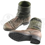 Boots: Dragon German WWII Short Brown w/Gaiters