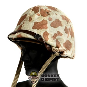Helmet Dragon US WWII M1 USMC Beach Cammo RTV VERSION