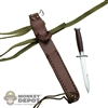 Knife: Dragon US WWII MkIII In Leather Scabbard