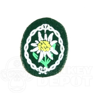 Insignia Dragon German WWII Edelweiss Patch Peel and stick