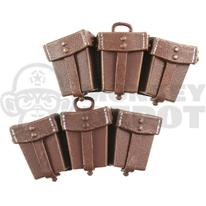 Ammo Dragon German WWII K98 Ammo Pouches Brown Textured Opening