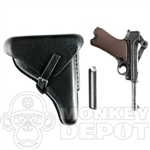 Pistol Dragon German WWII Luger working toggle plstic Black Holster