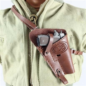 Pistol Dragon US WWII 1911 .45 in Leatherlike Shoulder Holster Single Harness