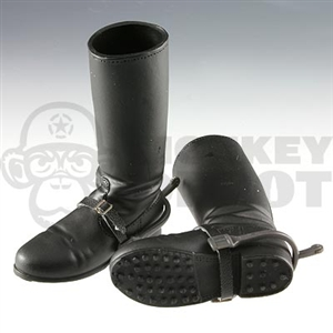 Boots Dragon German WWII Riding Boots Spurs Leatherlike Spur Straps