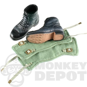 Boots Dragon British WWII Ammo Green Gaiters