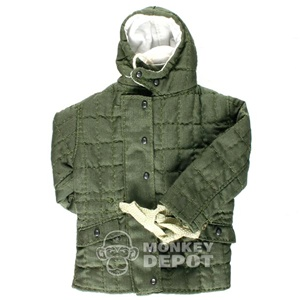 Coat: Dragon German WWII Luftwaffe Winter Quilted Green