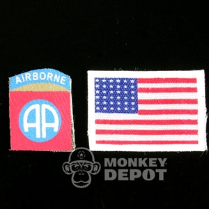 Insignia: Dragon US WWII 82nd Airborne w/Flag