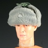 Hat: Dragon German WWII Winter Fur Flap w/Insignia