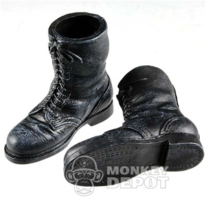 Boots: Dragon German WWII Fallschirmjager Front Laced Weathered