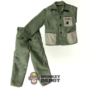 Uniform: Dragon US WWII USMC M1941 HBT Green