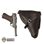 Pistol: Dragon German WWII Luger w/Black Leatherlike Holster