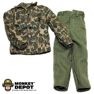 Fatigues: Dragon US WWII USMC M1943 Camo Utiliy Jacket & HBT Trousers