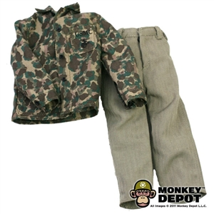 Fatigues: Dragon US WWII USMC M1943 Camo Utiliy Jacket & HBT Trousers (Light)
