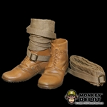 Boots: Dragon French WWII Brown Service w/ Puttees
