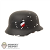 Helmet: Dragon German WWII M35 Double Decal Metal (Marked-Up)
