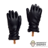 Hands: Dragon Black Gloves Relaxed Gripped