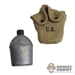 Canteen: Dragon US WWII M1910 Metal w/Cloth Cover