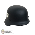 Helmet Dragon German WWII M35 SS Double Decal Real Metal