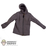 Jacket: Dragon Hooded Sweatshirt Grey