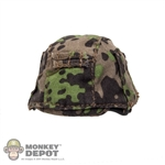 Helmet: Dragon German WWII M40 w/Camouflage Cover (Metal)