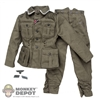 Uniform: Dragon German WWII M40 Field Blouse w/M37 Trousers & Insignia